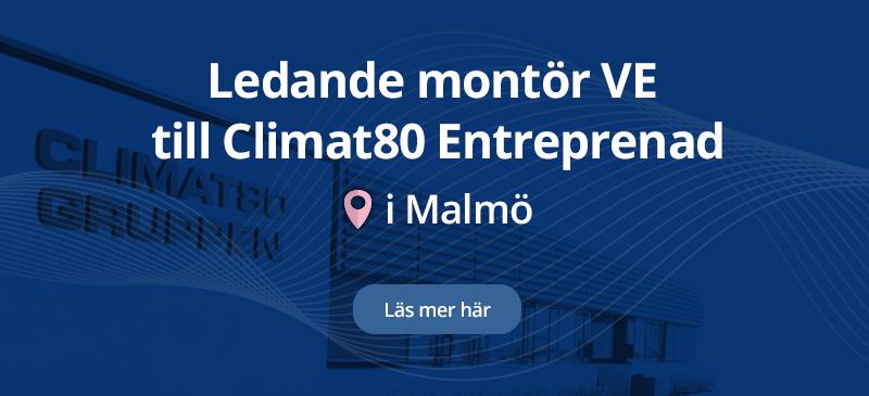 Climat80 Entreprenad AB söker ledande montör VE