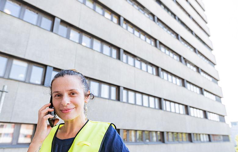 Andrea Calotescu, projektledare på Regionfastigheter i Lund