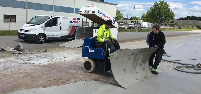 SANPRO hjälper Bulltoftabanan med ny beläggning.