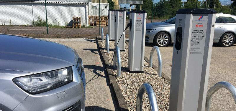 I Malmö så kommer 12 st laddstolpar med 24 laddpunkter  att sättas upp på parkeringsplatsen Stenyxegatan 28