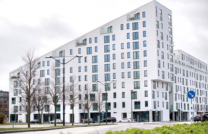 Kv Sjöljungfrun - Nybyggnad av bostadshus, 180 lägenheter samt 5 butiker åt MKB (2016)