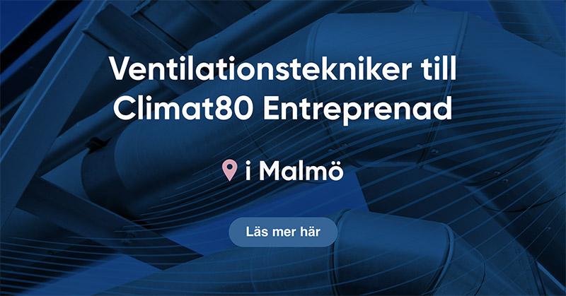 Climat80 Entreprenad söker ventilationsmontörer